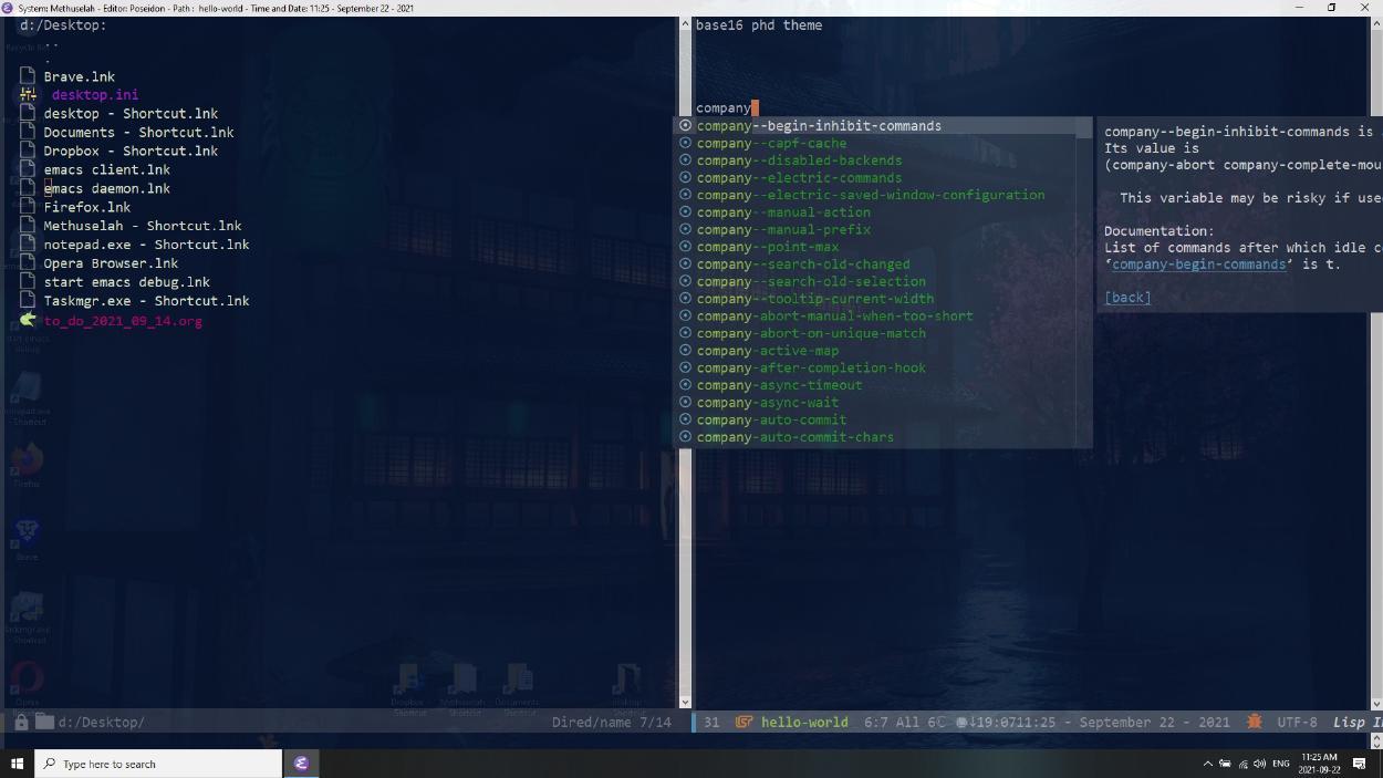 Emacs phd theme, poseidon-customization