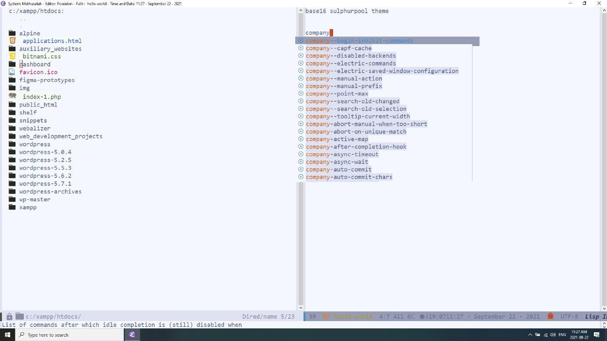 Emacs sulphurpool theme, poseidon-customization