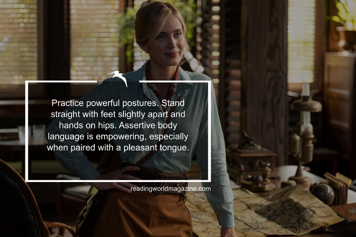 Emily Blunt stands with hand on hip in the movie Jungle Cruise